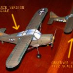 Stinson L-5 paper models in 1/72 and 1/48