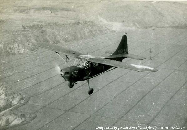 A Stinson L-5 flown by L.D. Todd